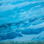 Blue Ice Abstract