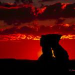 Hoodoo Silhouette at Sunrise