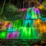Illuminated Sherman Falls